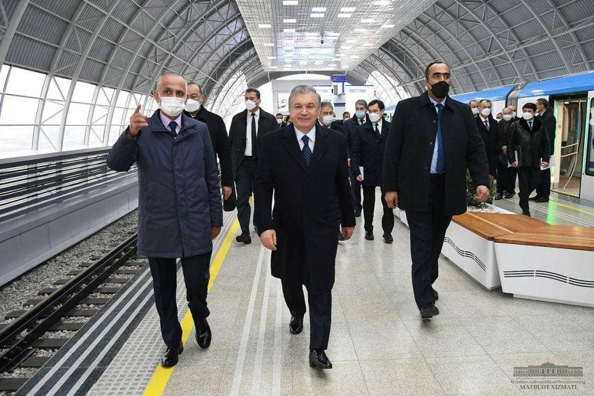 Запущена Сергелийская линия Ташкентского метрополитена